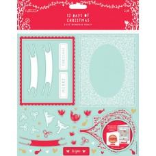 Набор бумаги с высечкой 12 Дней Рождества