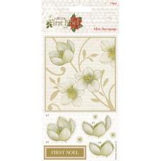 Набор бумаги с высечкой Розы First Noel