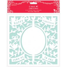 Набор заготовок для открыток с конвертами 12 Дней Рождества