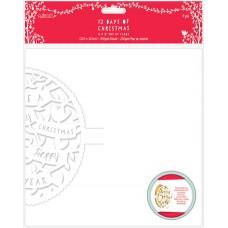 Набор заготовок для открыток 12 Дней Рождества