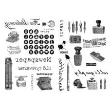 Набор переводных изображений (Transfer) Аксессуары для офиса