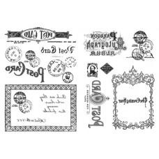 Набор переводных изображений (Transfer) Почтовая карта