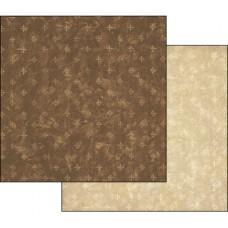 Бумага двухсторонняя для скрапбукинга Текстура - Коричневый и Слоновая кость