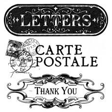 Штамп силиконовый Почтовая карточка