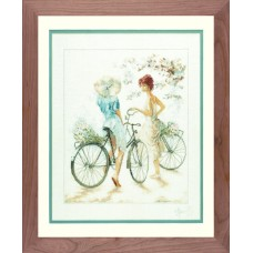 Набор для вышивания Girls On Bicycle LANARTE (арт.33788)