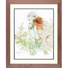 Набор для вышивания Horse And Flowers LANARTE (арт.33829)