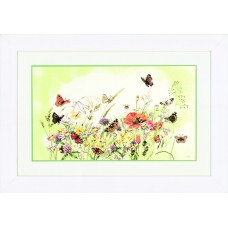 Набор для вышивания Flowers/Butterfly M.B.  LANARTE (арт.34359)