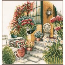 Набор для вышивания Terrace In Autumn Bloom