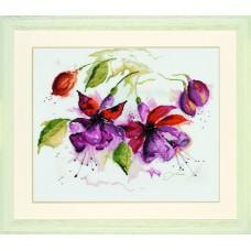 Набор для вышивания Fuchsia In Watercolour  LANARTE (арт.34849)