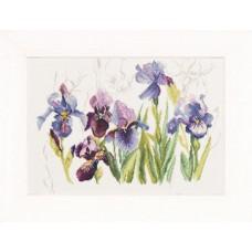 Набор для вышивания Tripych Blue Flowers - Irisses  LANARTE (арт.34851)