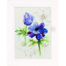 Набор для вышивания Blue anemones
