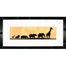 Набор для вышивания Parade Of Wild Animals  LANARTE (арт.35115)