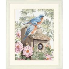 Набор для вышивания Garden Bluebirds  LANARTE (арт.35145)