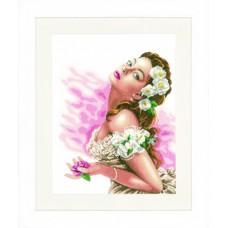 Набор для вышивания Lady of the Camellias  LANARTE