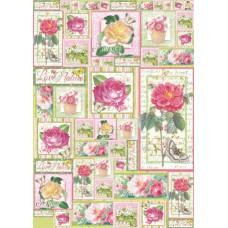 Карта для декупажа Любимые розы