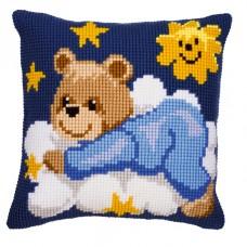 Подушка Мишутка- мальчик, набор для вышивания