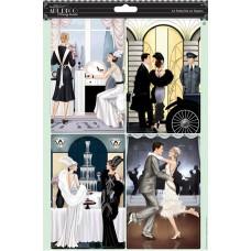 Набор бумаги с высечкой Потрясающее время Art Deco