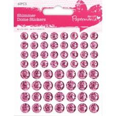 Декоративные клеевые элементы Розовые Круги