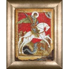 Набор для вышивания Чудо Георгия о змие, канва аида 18 ct