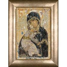 Набор для вышивания Владимирская икона Божией Матери, канва аида 18 ct