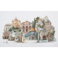 Набор для вышивания Иерусалим, канва лён 36 ct