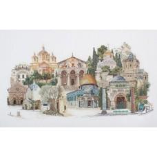 Набор для вышивания Иерусалим, канва аида 18 ct