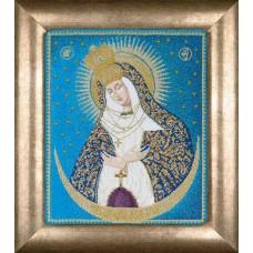 Набор для вышивания Остробрамская икона Божией Матери, канва аида 18 ct