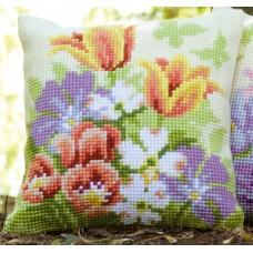 Подушка Весенние цветы набор для вышивания