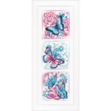 Набор для вышивания Синие бабочки