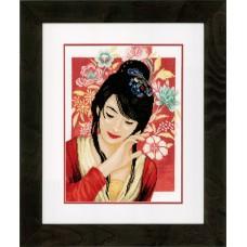 Набор для вышивания Asian flower girl  LANARTE