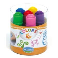 Фломастеры с увеличенным основанием для легкого раскрашивания, детские (6 цветов)