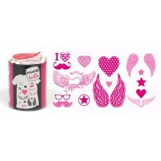 Набор текстильных штампиков для оттисков на тканях Любовь и шик