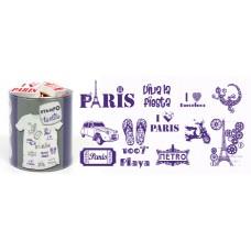 Набор текстильных штампиков для оттисков на тканях Париж и Барселона