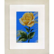 Набор для вышивания Yellow Rose on Blue LANARTE, 35046