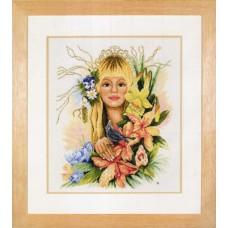 Набор для вышивания Spring flower girl LANARTE,  23058 A