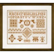 Набор для вышивания Sampler in Bronze LANARTE, 34906 A