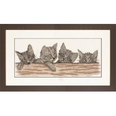 Набор для вышивания Cats Over The Fence LANARTE, 35130A
