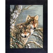 Набор для вышивания Wolves LANARTE, 38007 A