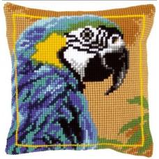 Подушка Голубой Ара набор для вышивания