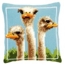 Подушка Страусы набор для вышивания