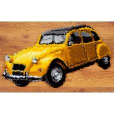 Коврик Старый желтый автомобиль набор ковровой техники