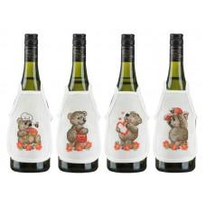 Набор для вышивания Медвежата, фарточки на бутылки