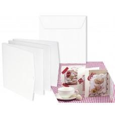 Заготовка для открытки лепорелло и конверт