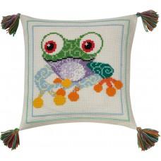 Набор для вышивания Лягушка, подушка