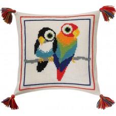 Набор для вышивания Птицы, подушка