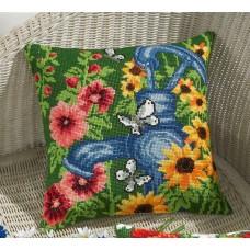 Набор для вышивания Синий водяной насос, подушка