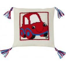 Набор для вышивания Красный автомобиль, подушка