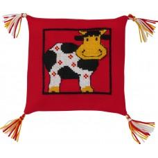 Набор для вышивания Корова, подушка
