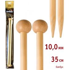 Спицы прямые, бамбук, №10, 35 см