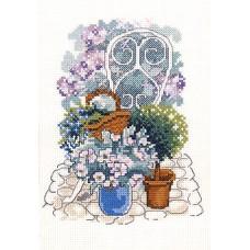 Набор для вышивания Цветы в кашпо